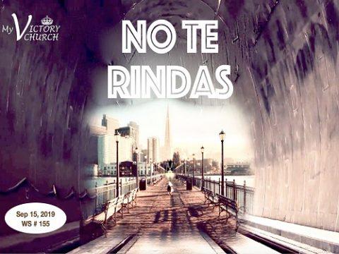 WS 155 9/15/2019 NO TE RINDAS