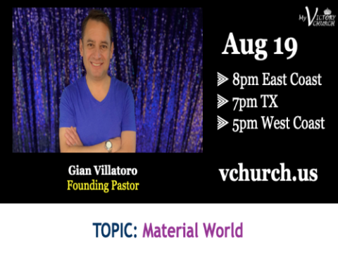 LIVE - Material World - My Victory Church - August 19th, 2020