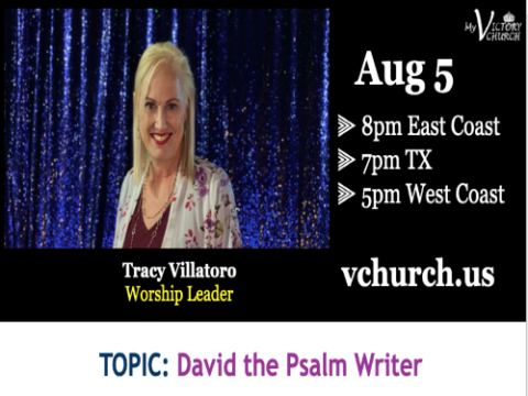 LIVE - David the Psalm Writer - My Victory Church - August 5th, 2020