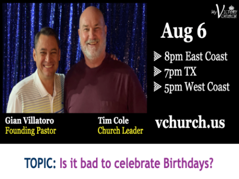 LIVE - Is it bad to celebrate bithdays? - My Victory Church - August 6th, 2020