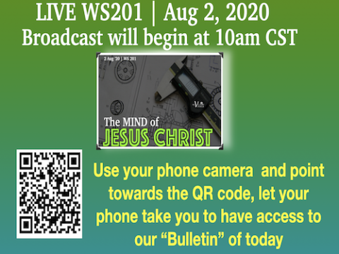 LIVE: The Mind of Jesus Christ (WS201) 2 Aug '20