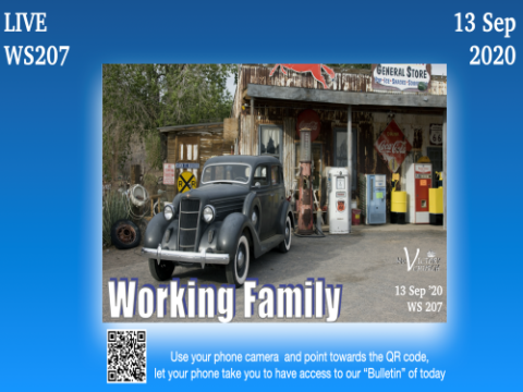 Working Family - WS #207 – My Victory Church – September 13th, 2020