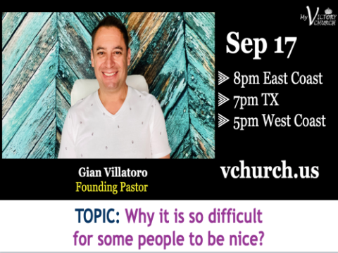 LIVE - Why is it so difficult for some people to be nice? - My Victory Church - September 17th, 2020