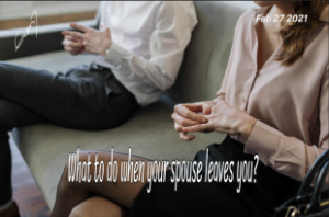 What to do when your spouse leaves you?